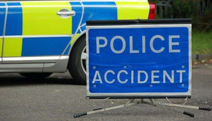 Road closed following accident near Risley Prison